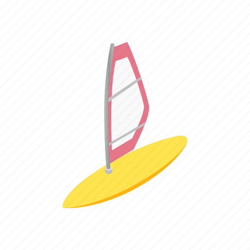 active, isometric, summer, surfer, surfing, windsurf, windsurfing icon