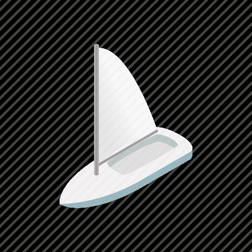 cruise, isometric, ocean, sailing boat, sea, silhouette, yacht icon