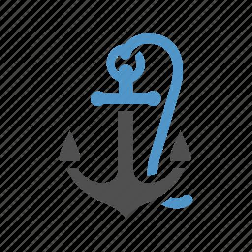 anchor, maritime, nautical, sailboat, ship, sport, water icon