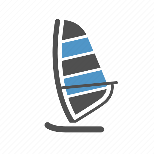 sailboat, travel, vacation, water sport, windsurfing, yachting icon
