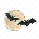 bat, evil, fly, flying, halloween, haunted, moon, scary, sky, spooky icon