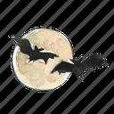 bat, evil, fly, flying, halloween, haunted, moon, scary, sky, spooky icon