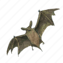 bat, flying, halloween, horror, night, scary, spooky, vampire icon