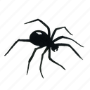 animal, arachnid, black-widow, halloween, horror, insect, poison, poisonous, scary, spider, widow icon