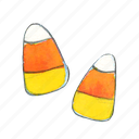 candy, candy-corn, corn, halloween, sweet, treat, trick-or-treat icon