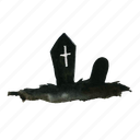 cemetery, dead, death, final, finish, grave, gravestones, graveyard, horror, rip, silhouette, tomb, tombstone icon