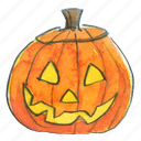 face, halloween, jack, jack-o-lantern, lantern, light, pumpkin, smile, squash, trick-or-treat icon