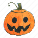 face, halloween, happy, jack, jack-o-lantern, lantern, pumpkin, scary, smile, smiley, squash, trick-or-treat icon