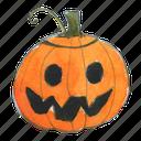 face, halloween, jack, jack-o-lantern, lantern, pumpkin, smile, squash, trick-or-treat, happy, scary, smiley icon