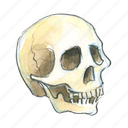 bone, dead, death, face, final, halloween, head, horror, skull icon