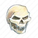 bone, dead, death, evil, face, halloween, head, horror, scary, skull, smile, spooky icon