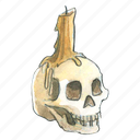 bone, bones, candle, creepy, dead, face, halloween, horror, scary, skull, spooky icon