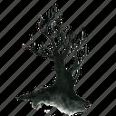 dead, halloween, haunt, haunted, scary, spooky, tree, winter icon