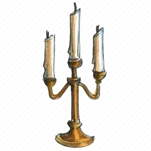 candle, candleabra, candlestick, halloween, light icon