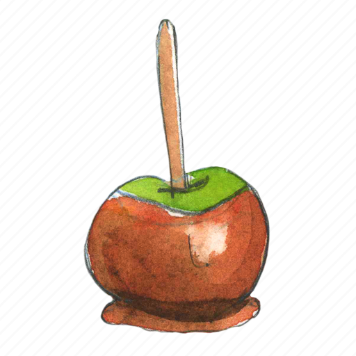 apple, autumn, candy, caramel, dessert, fall, food, fruit, sweet, treat, trick-or-treat icon