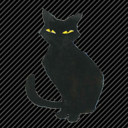 animal, cat, halloween, horror, kitty, pet, scary, spooky icon