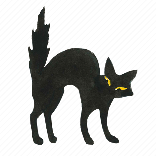 animal, cat, evil, halloween, horror, kitty, pet, scared, scary, spooky icon