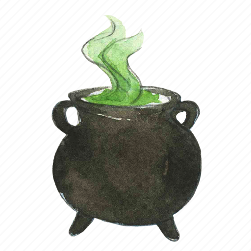 boil, bubble, cauldron, cook, cooking, halloween, horror, kettle, magic, pot, potion, simmer, spell icon