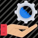 provide, waterfall, development, software, dev, hand, gesture icon