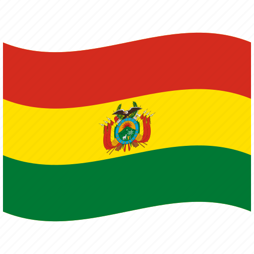 bo, bolivia, bolivian flag, green, plurinational, state, waving flag icon