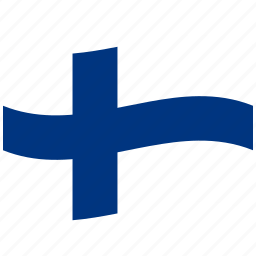 fi, finland, finnish flag, waving flag, white icon