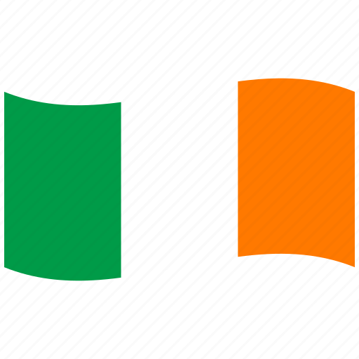 flag, ie, ireland, irish flag, republic, waving flag, white icon