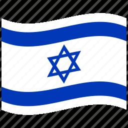 il, israel, israeli flag, isralian flag, jerusalem, judea, waving flag icon