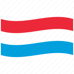 flag, lu, luxembourg, luxemburg, red, waving flag icon