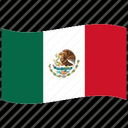 green, mexican flag, mexico, mx, red, waving flag, white icon
