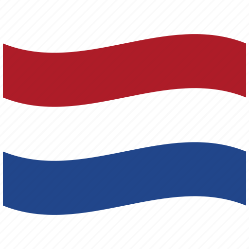 netherlands, nl, red, waving flag icon
