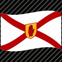 golden, ireland, irish flag, northern, saint patrick s, shield, waving flag icon
