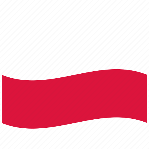 pl, poland, polish flag, red, waving flag, white icon