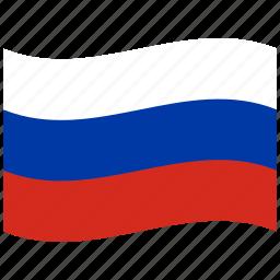federation, national, ru, russia, russian, russian flag, waving flag icon