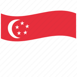 red, unknown flag, waving flag, white icon