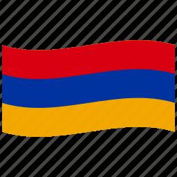 am, armenia, republic, sweden, swedish, waving flag icon