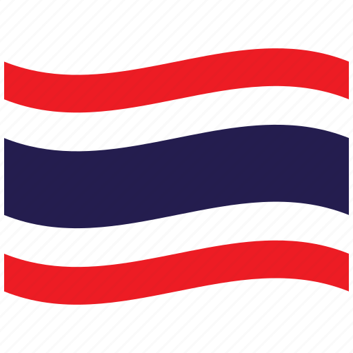 flag, pattaya, th, thai, thailand, waving flag icon