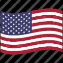 united states, us, usa, waving, american flag, north america