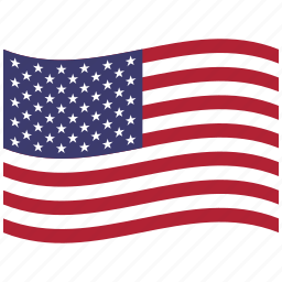 american flag, north america, united states, us, usa, waving icon