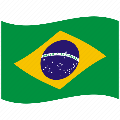br, brazil, brazilian flag, federal, green, republic, waving flag icon