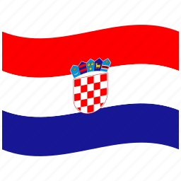croatia, flag, hr, national, red, republic, waving flag icon