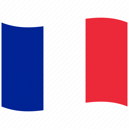 fr, franc, france, french flag, paris, red, waving flag icon