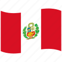 branches, cornucopia, flags, laurel, pe, peru, waving flag icon