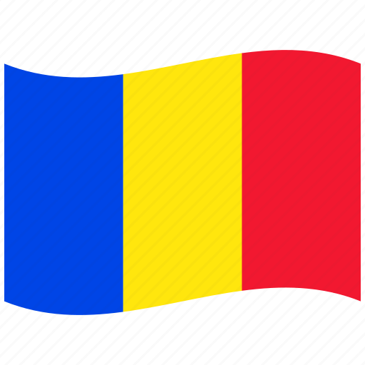 red, republic, ro, romania, romanian flag, waving flag icon