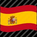 spain, hispanic, spanish flag, es, red, waving flag