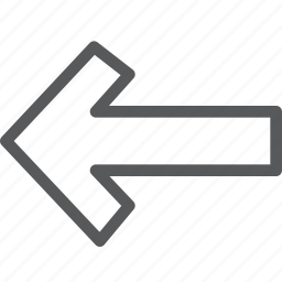 arrow, direction, left, point, sign, way finding icon