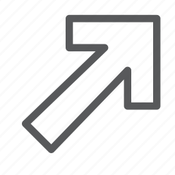 arrow, direction, point, right, sign, top, up, way finding icon