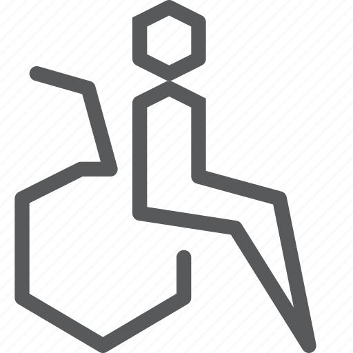 crippled, disabled, impaired, sign, way finding, wheelchair icon