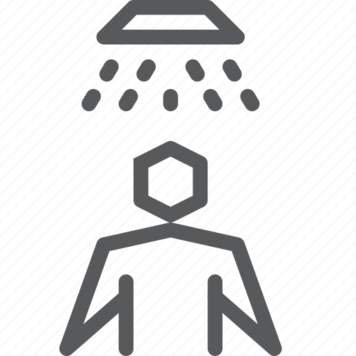 accomodation, hotel, service, shower, user, water, way finding icon