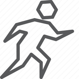 exercise, jog, run, side walk, sign, walk, way finding icon