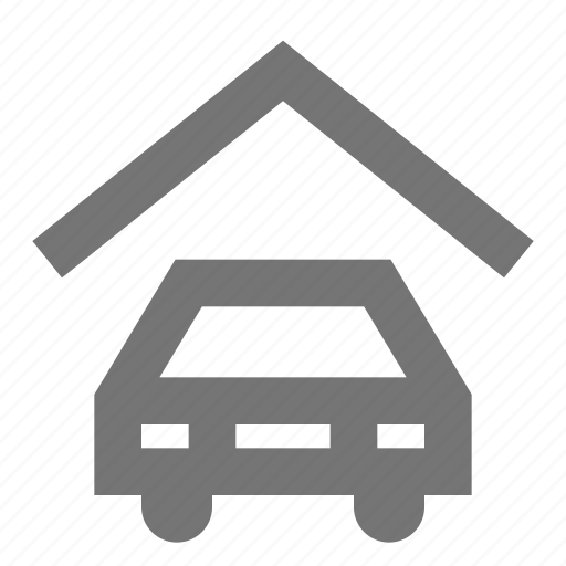 automobile, car, garage, home, parking, shelter, vehicle icon